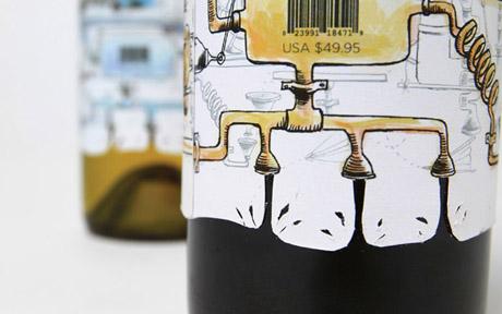 Согласно этикетке: Студент показал на бутылке вина весь процесс его изготовления.