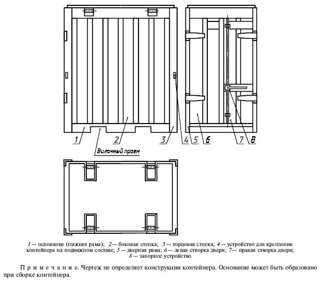 ГОСТ 20435-75 Контейнер универсальный металлический закрытый номинальной массой брутто 3,0 т. Технические условия.