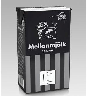 Молоко в черной упаковке вызвало интерес и покупателей и остряков