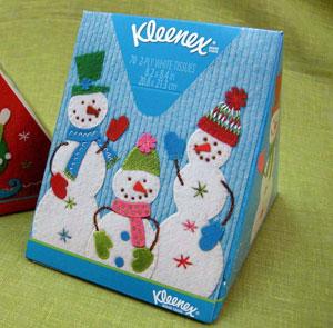 Салфетки Kleenex в рождественской упаковке