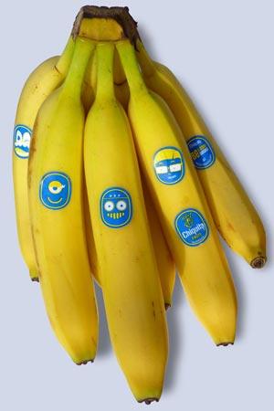 Бананы Chikita с обновленной этикеткой