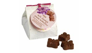 Шоколадные конфеты в инновационной упаковке с семенами цветов