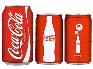 Coca-Cola в алюминиевых баночках объемом 7,5 унций