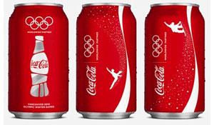 Coca-Cola в банках с олимпийской символикой