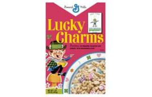Сухие завтраки Lucky Charms в ретро-упаковке