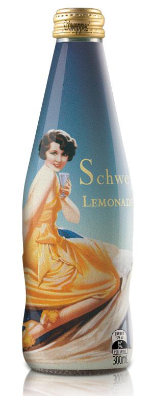 Напитки Schweppes в винтажном стиле