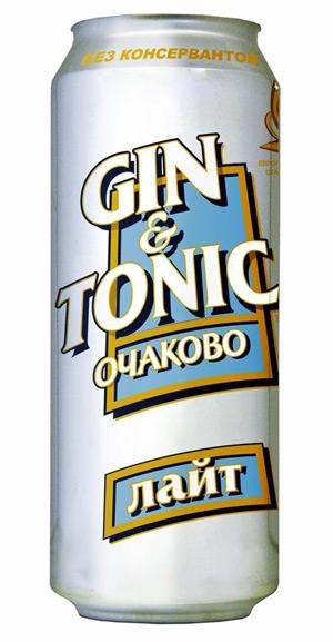"""...слабоалкогольный напиток под маркой  """"Очаково """" -  """"Джин-Тоник Лайт """"."""