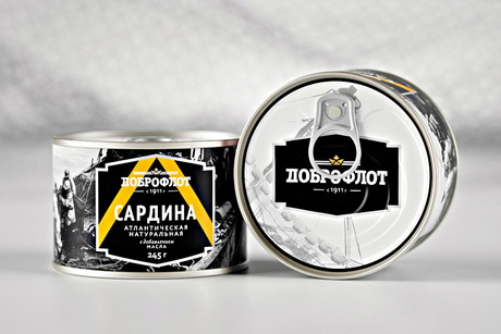 Креаторы разработали дизайн упаковки консервов для рыбопромысловой компании
