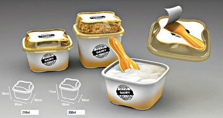 Простая в использовании ложечка дополнила удобную упаковку молочной продукции