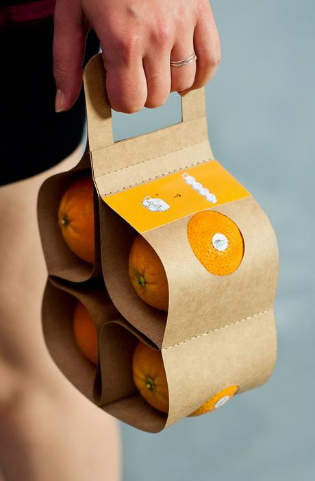 Конкурсная упаковка апельсинов переосмысливает концепт упаковки «на вынос»