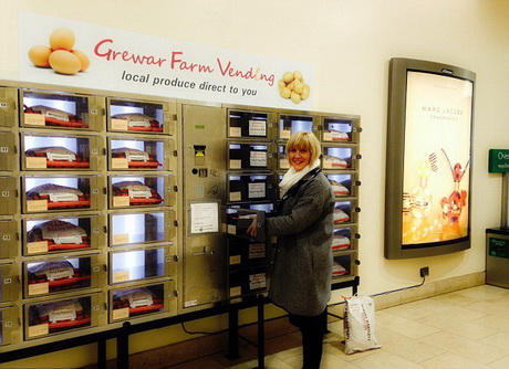 Автомат по продаже свежих овощей завоёвывает популярность в шотландском городе