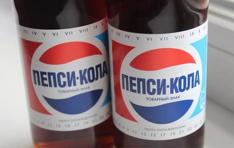 В Новосибирске начали торговать пепси-колой в ретро-бутылочках.